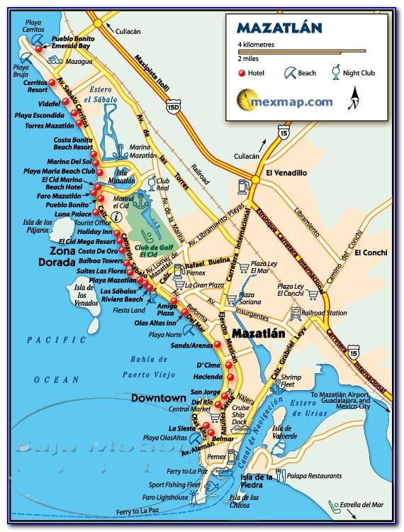 Map Of Mazatlan Mexico Area