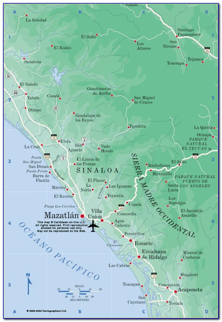 Map Of Mazatlan Mexico Hotels