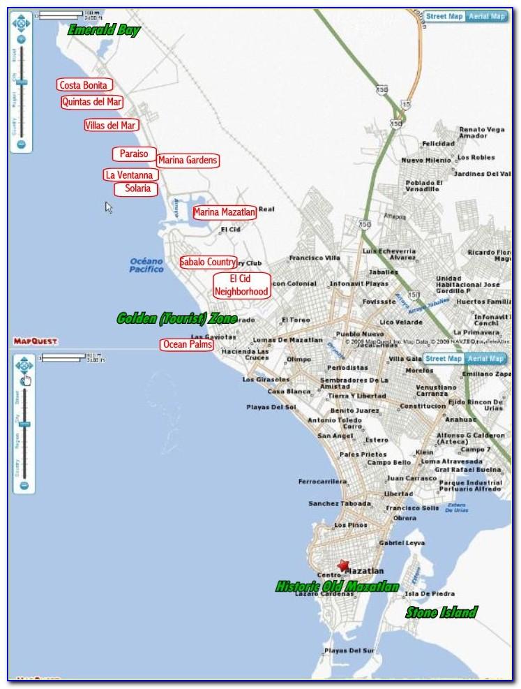 Map Of Mazatlan Mexico Resorts