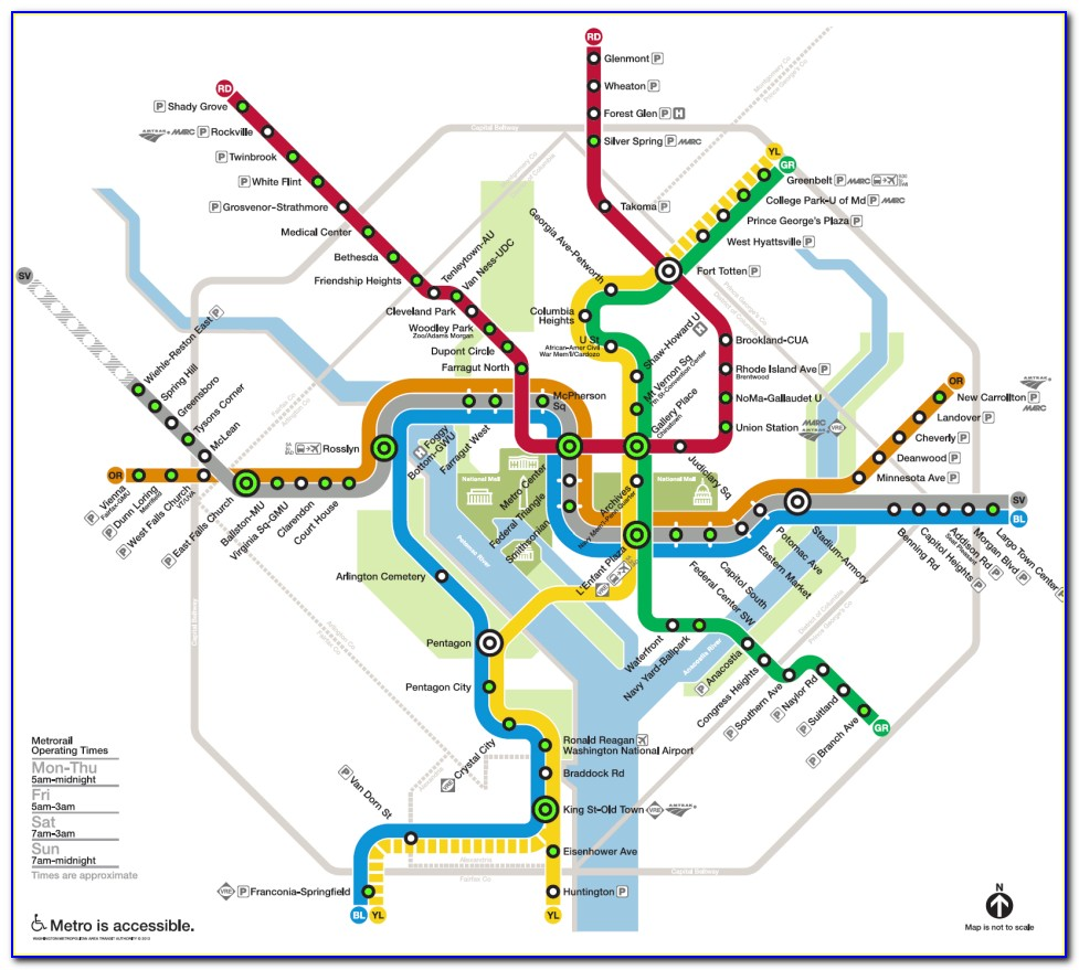 Map Of Metro Stations In Washington Dc