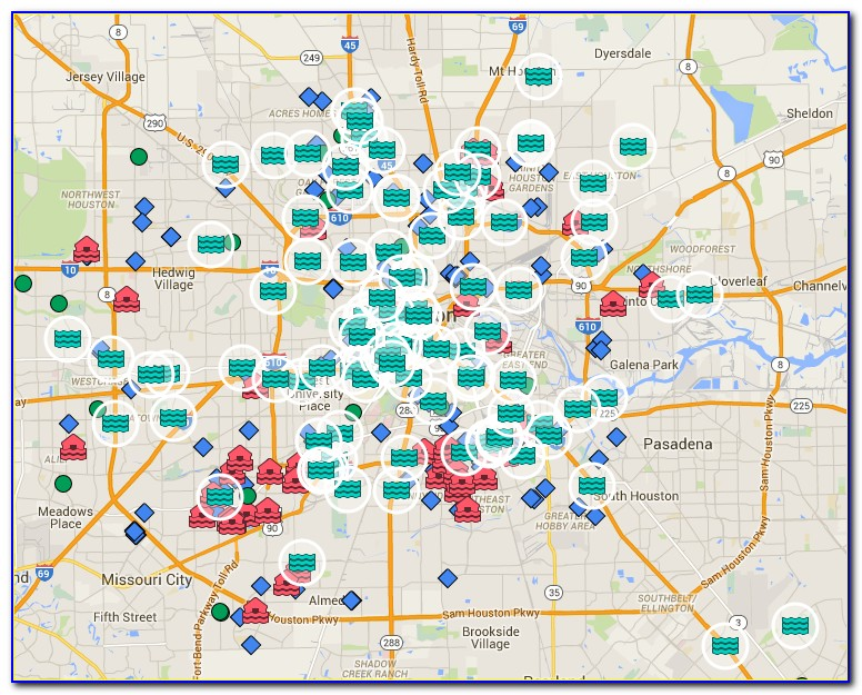 Map Of Most Flooded Areas In Houston Today