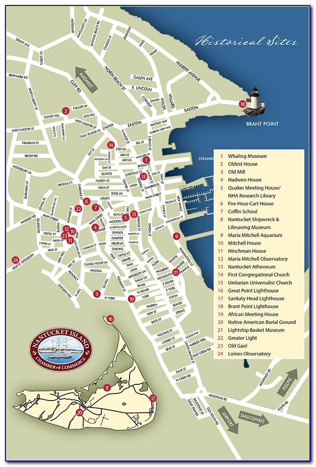 Map Of Nantucket Island Ma