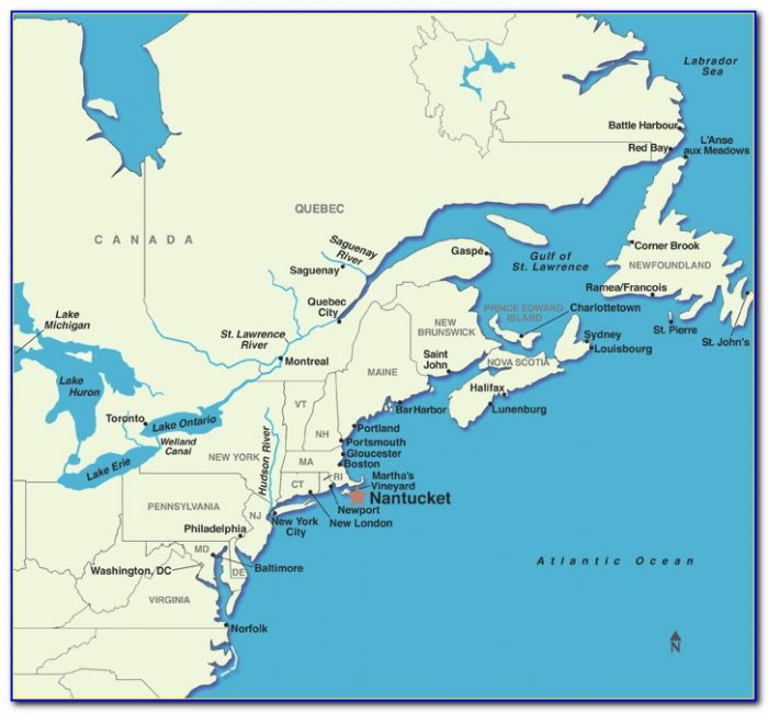 Map Of Nantucket Island Massachusetts