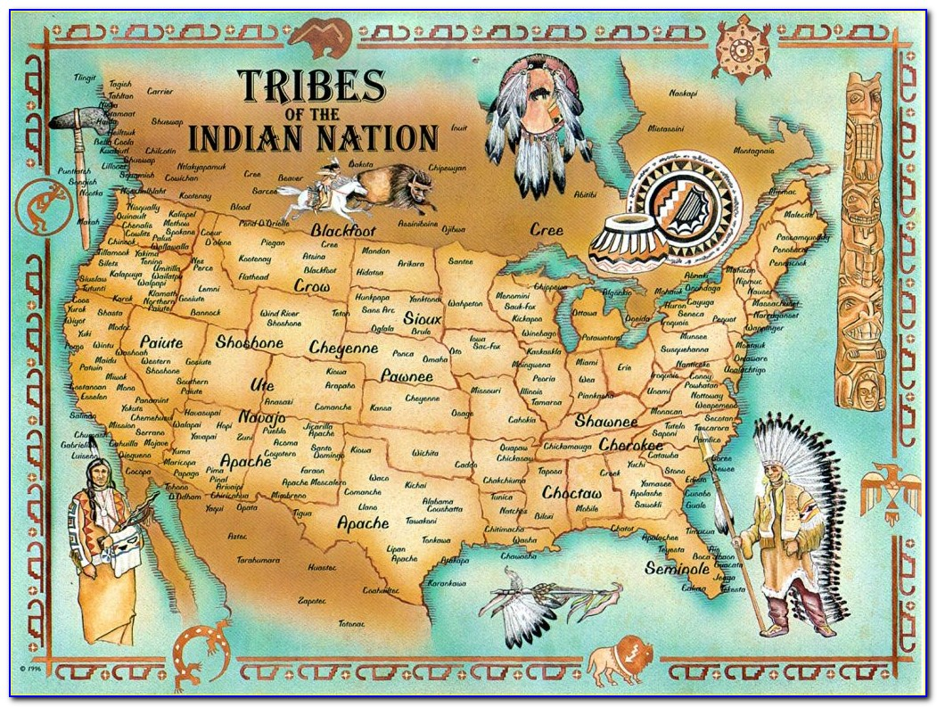 Map Of Native American Tribes 1600