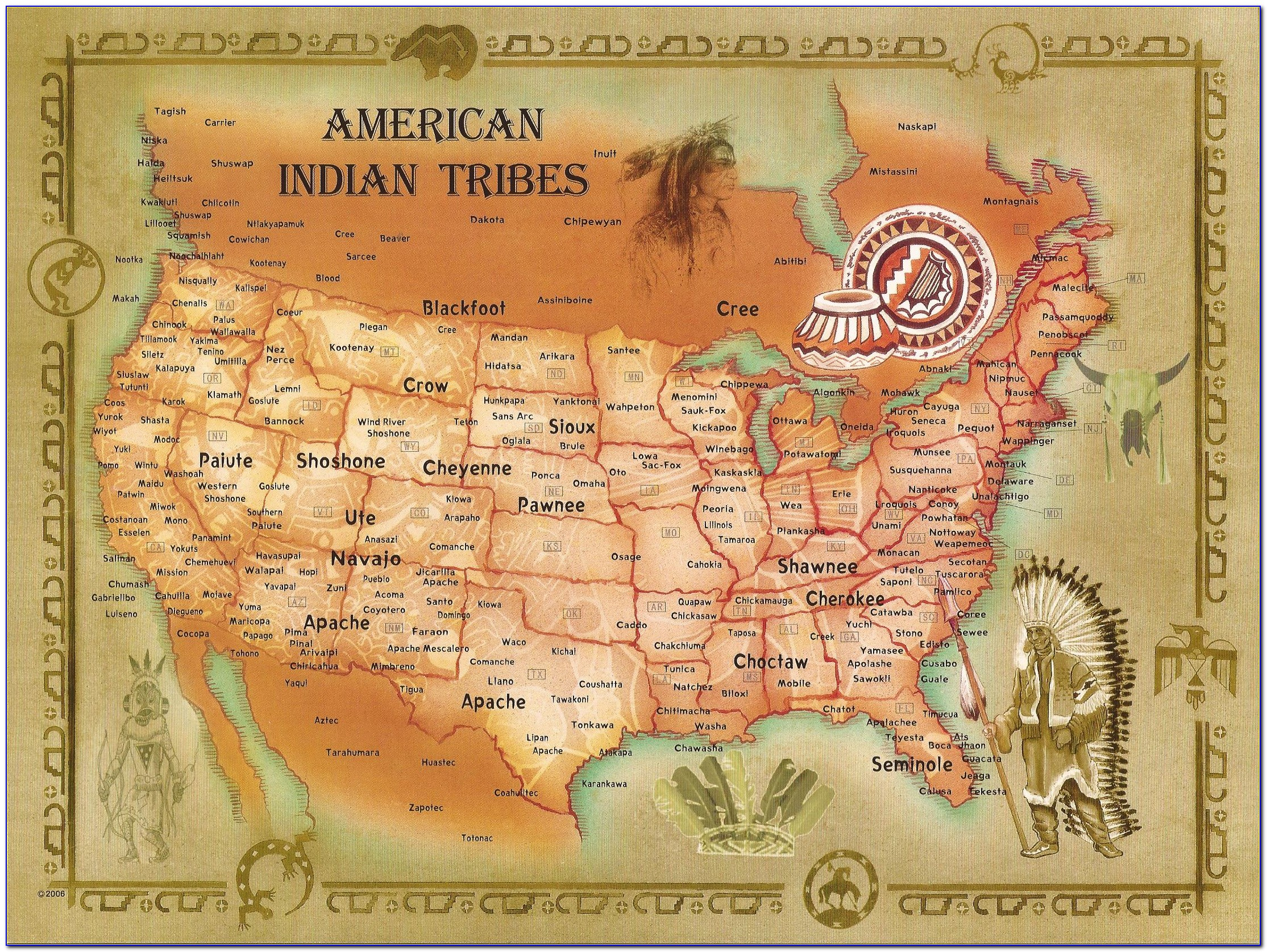 Map Of Native American Tribes In California