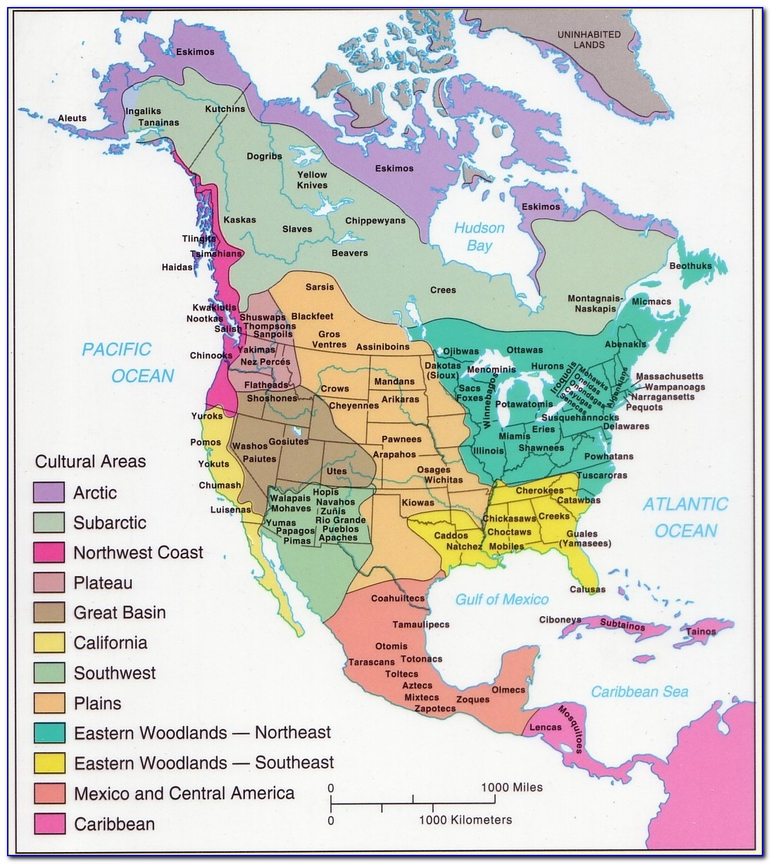 Map Of Native American Tribes In Texas