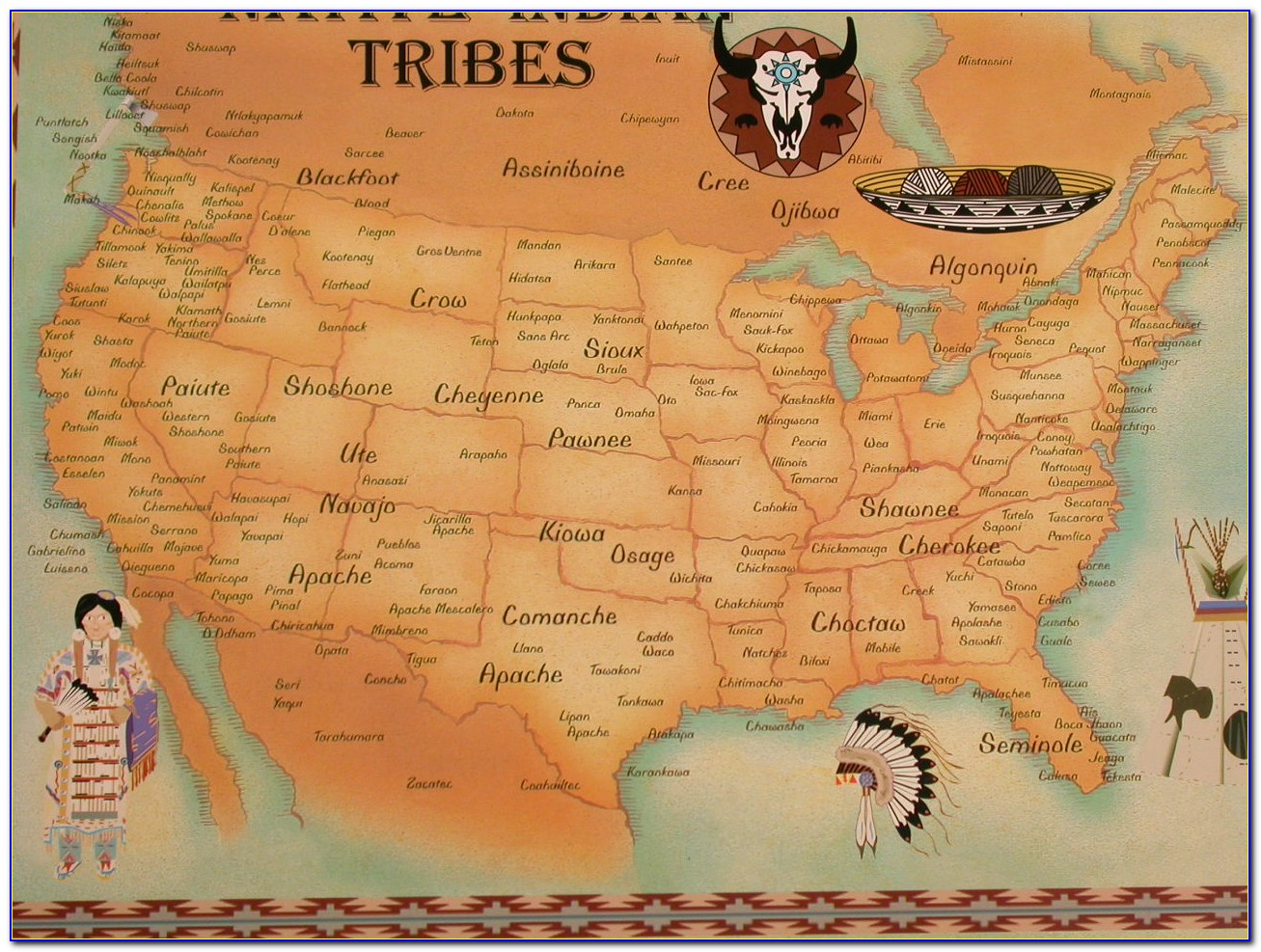 Map Of Native American Tribes Pre Colonization