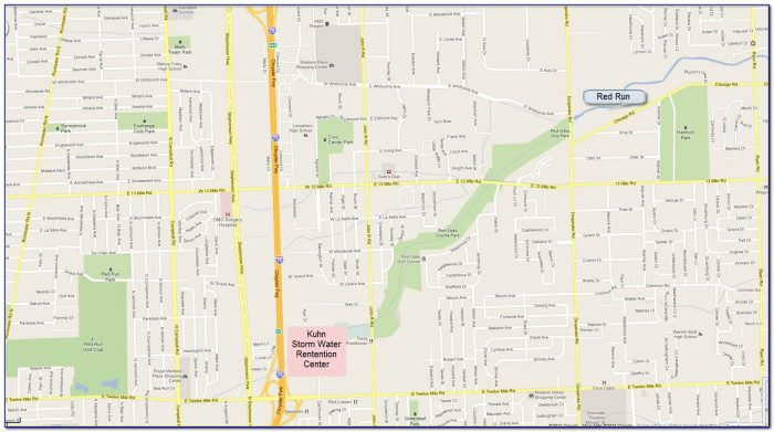 Map Of Northern Macomb County Mi