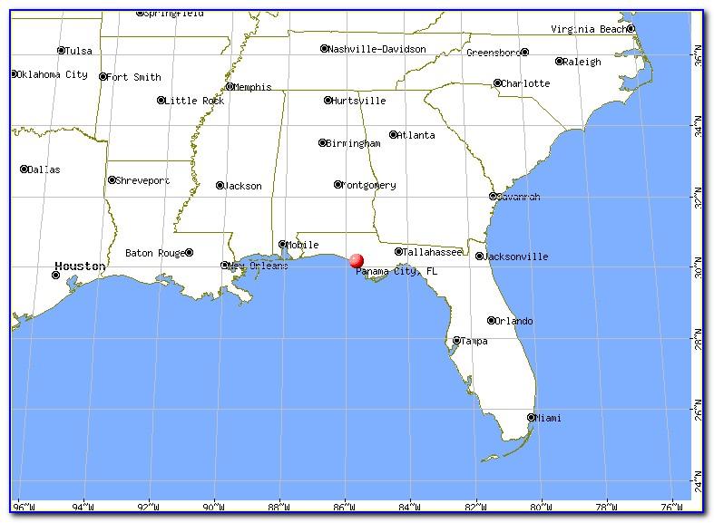 Map Of Panama City Fl Area