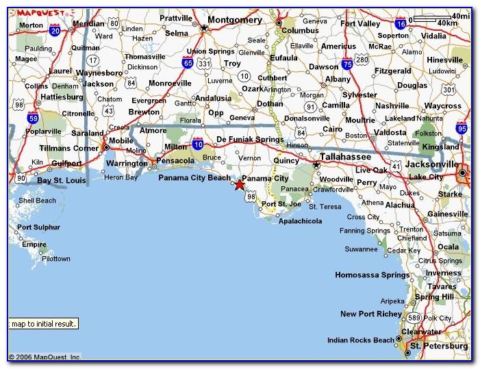 Map Of Panama City Florida And Surrounding Area