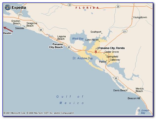 Map Of Panama City Florida Hotels