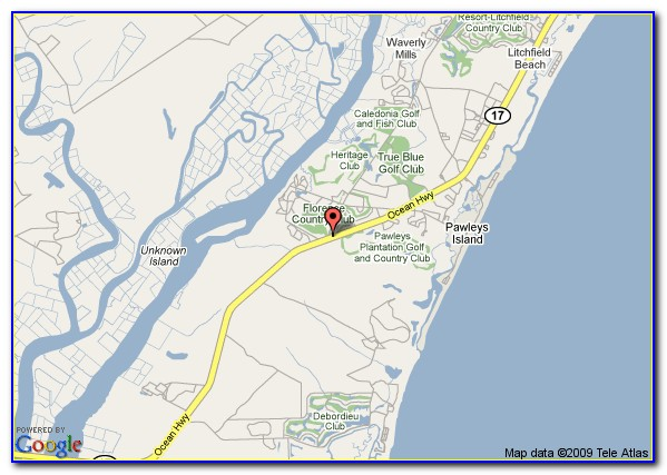 Map Of Pawleys Island Sc 29585