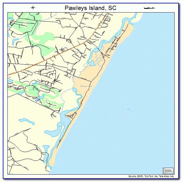 Map Of Pawleys Island Sc