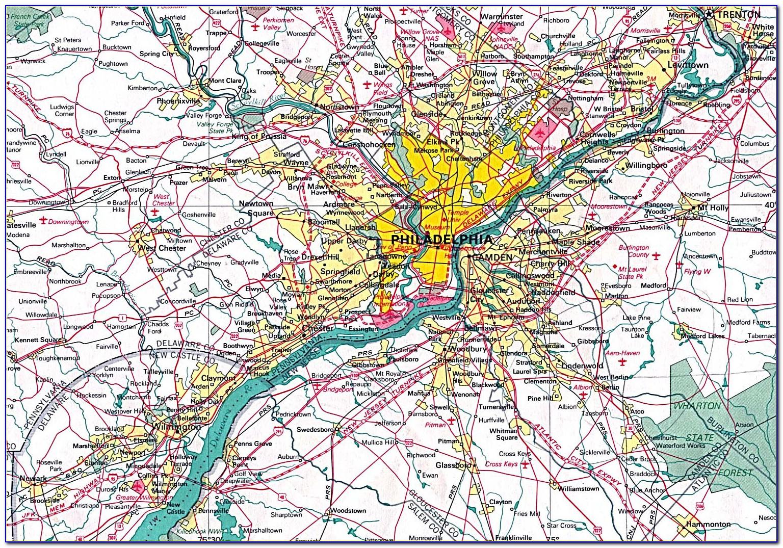 Map Of Philadelphia City
