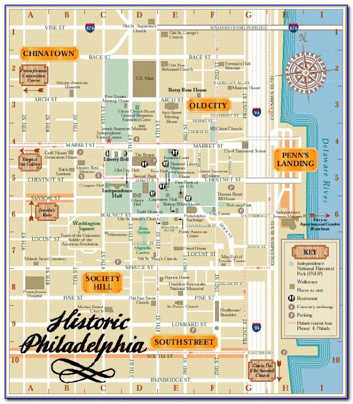 Map Of Philadelphia Historic District