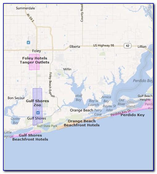 Map Of Phoenix Condos In Gulf Shores