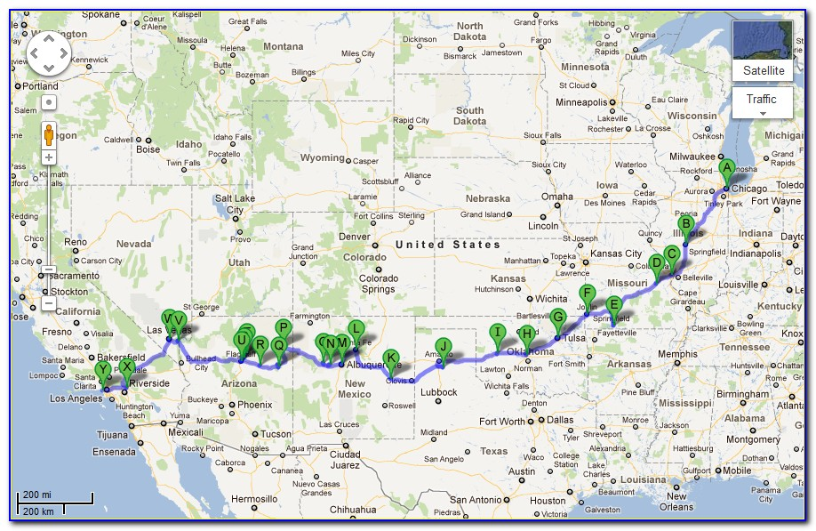 Map Of Rt 66 In Kansas