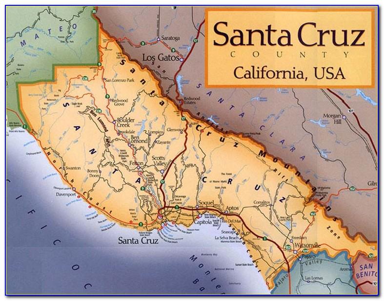 Map Of Santa Cruz County Ca