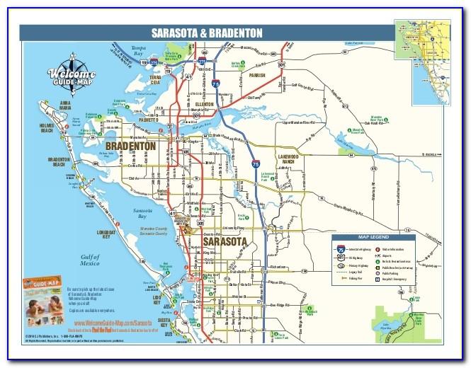 Map Of Sarasota Bradenton Florida