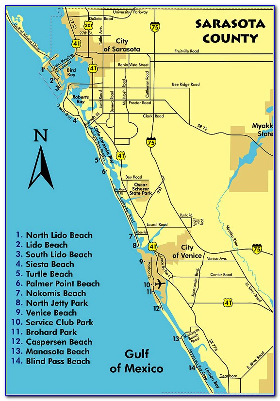 Map Of Sarasota Fl And Surrounding Area