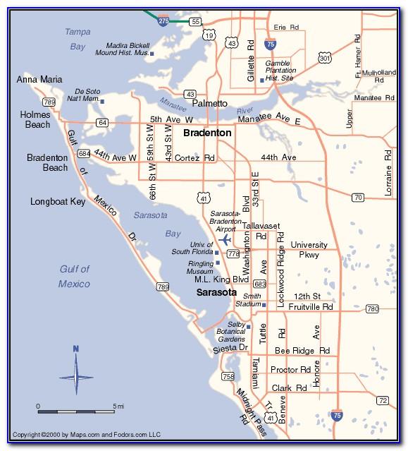 Map Of Sarasota Florida And Surrounding Cities