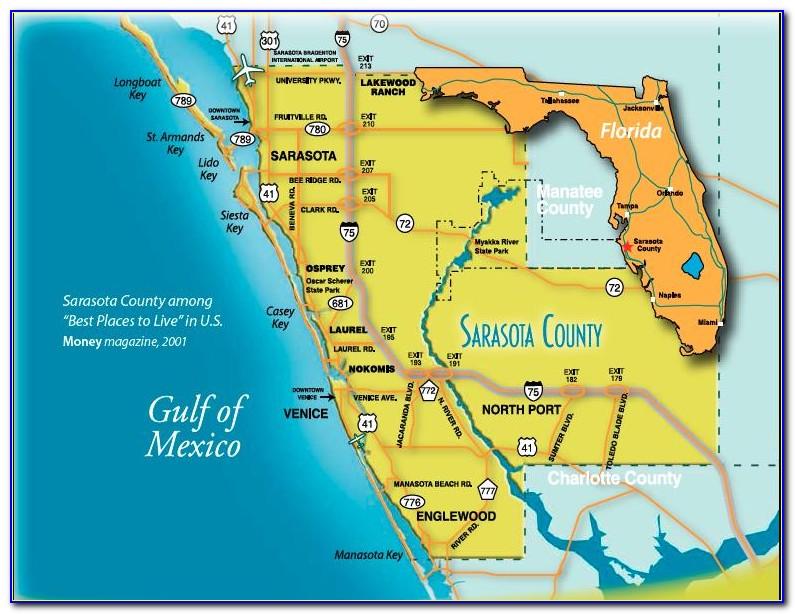 Map Of Sarasota Florida Area