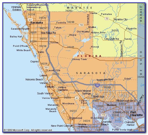 Map Of Sarasota Florida City Limits