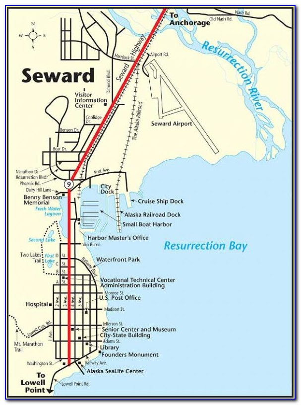Map Of Seward Ak