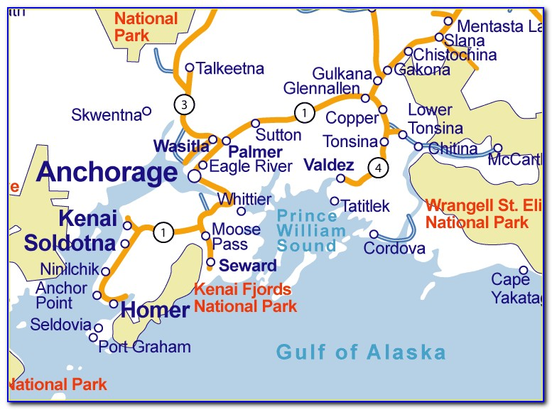 Map Of Seward Alaska Area