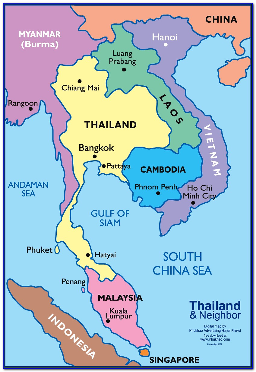 Map Of Southeast Asia And China