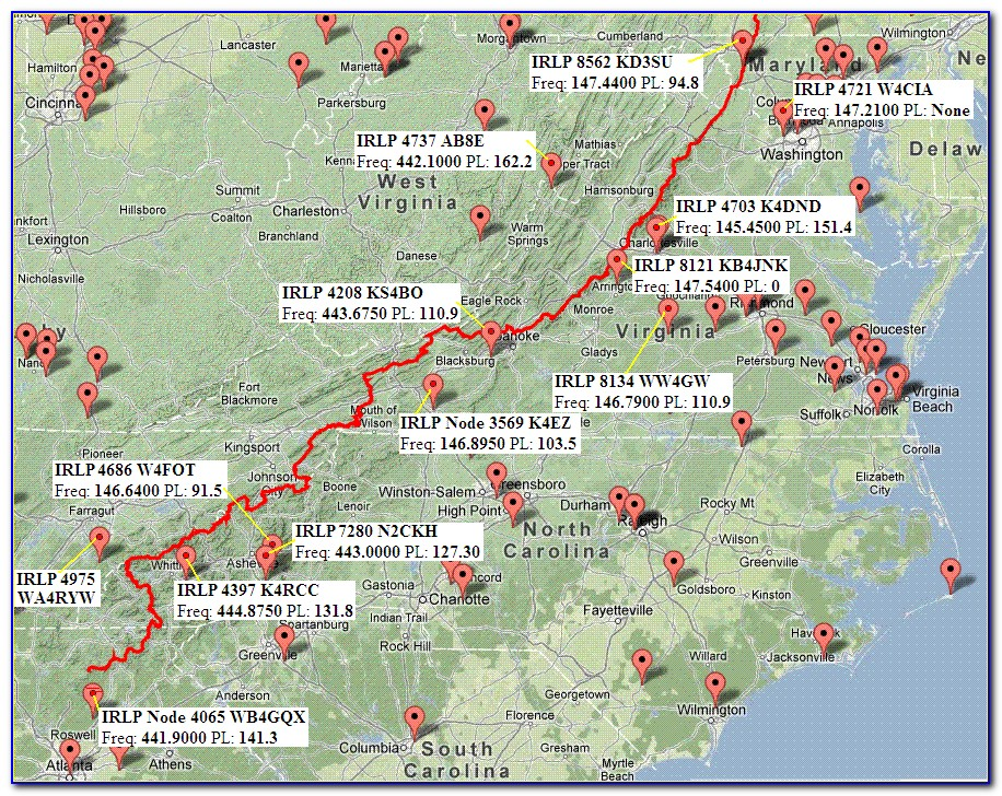 Map Of The Appalachian Trail In Maine