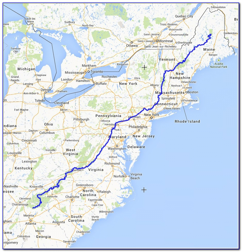 Map Of The Appalachian Trail In Massachusetts