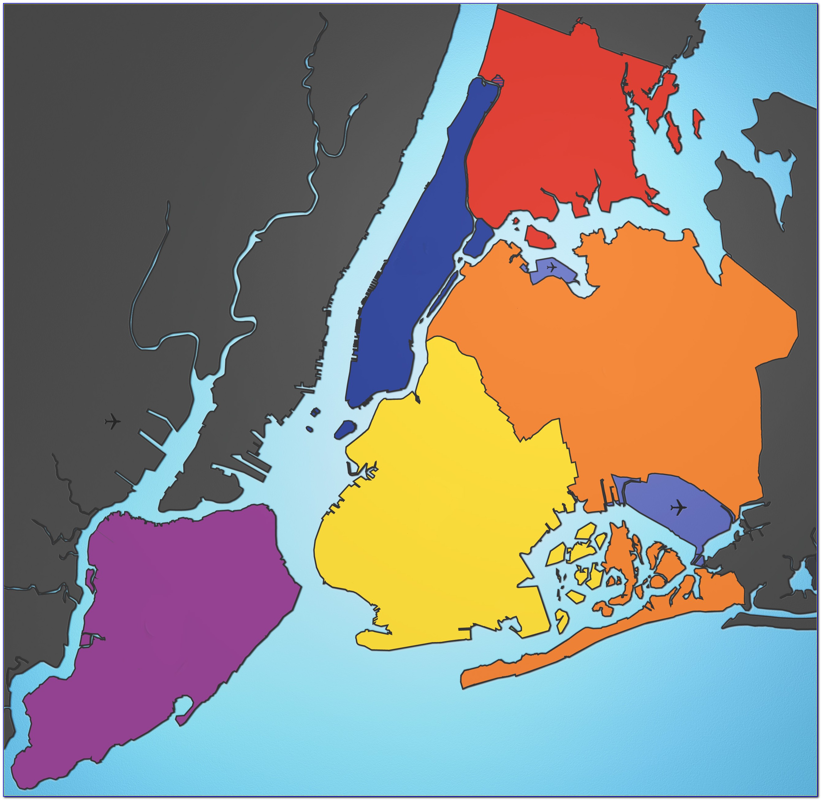 Map Of The Five Boroughs In New York