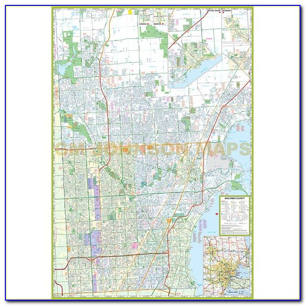 Map Of Townships In Macomb County Mi