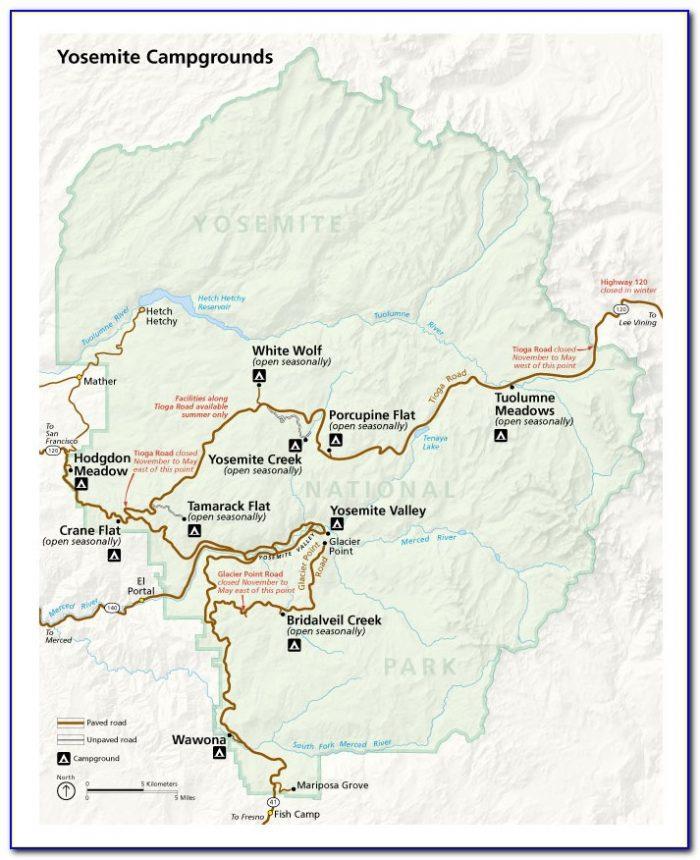 Map Yosemite National Park