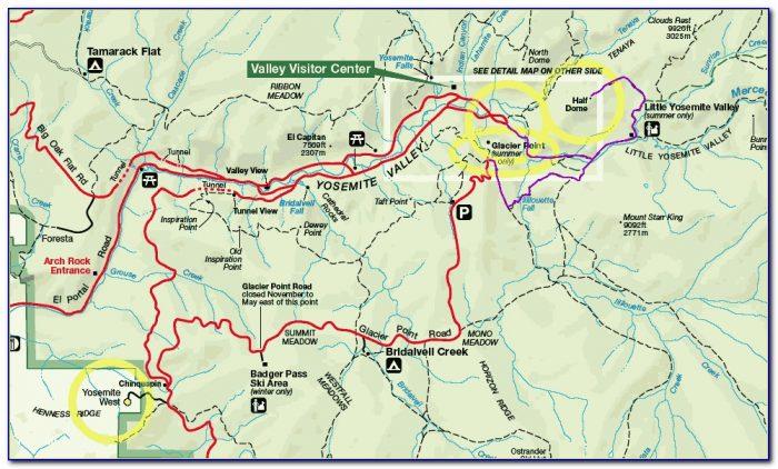 Map Yosemite National Park Ca