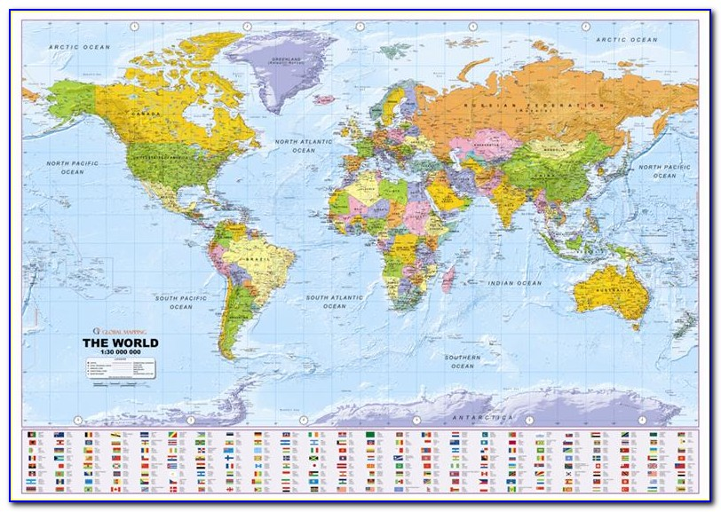 Mapquest World Wall Map