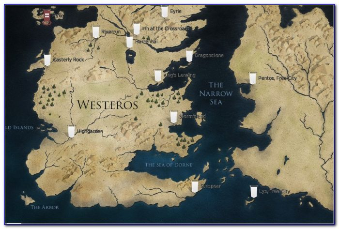 Maps Of Game Of Thrones Book