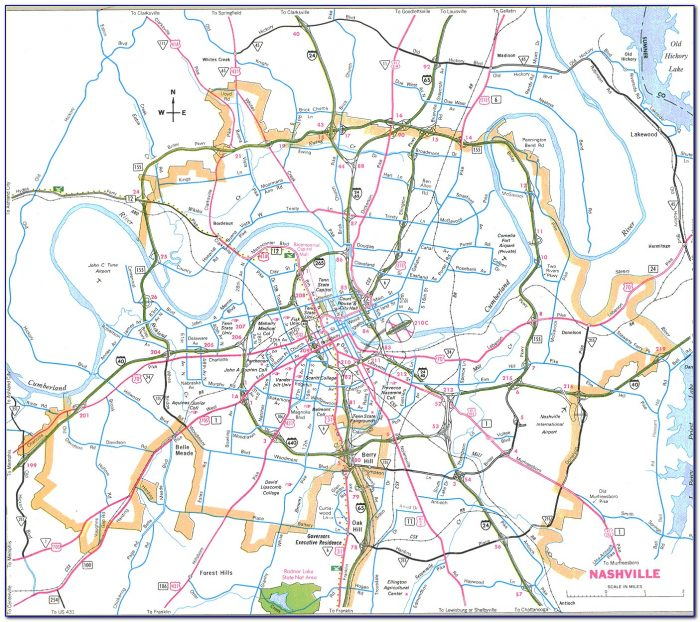Printable Map Of Nashville Tn And Surrounding Areas - Maps ...