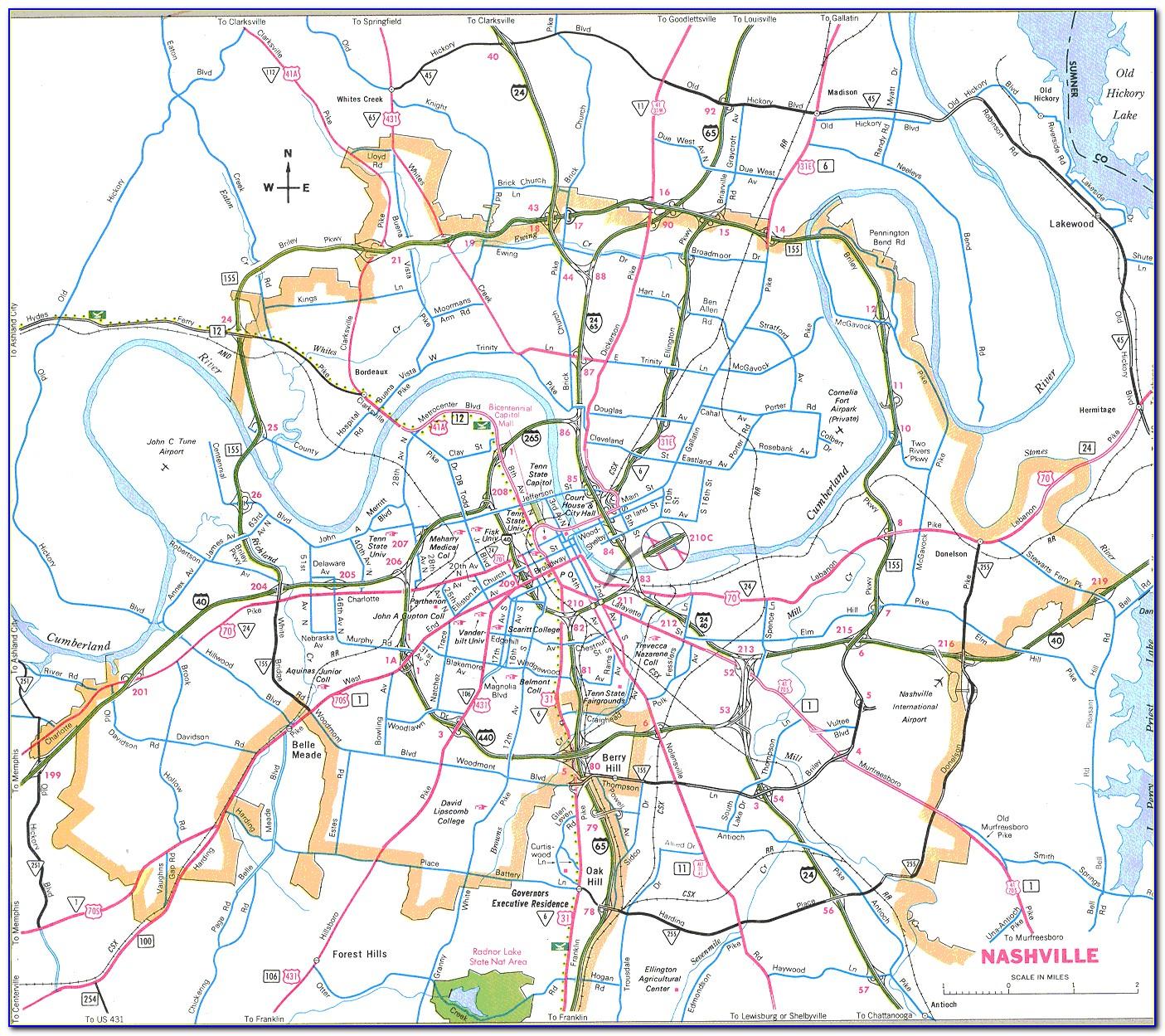 Maps Of Nashville Tn And Surrounding Area