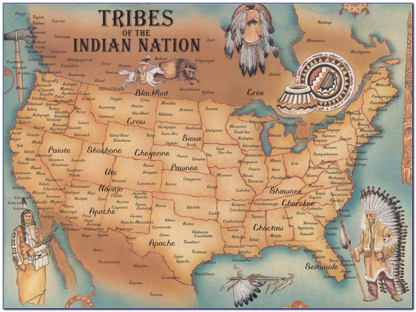 Maps Of Native American Tribes In North America - Maps ...