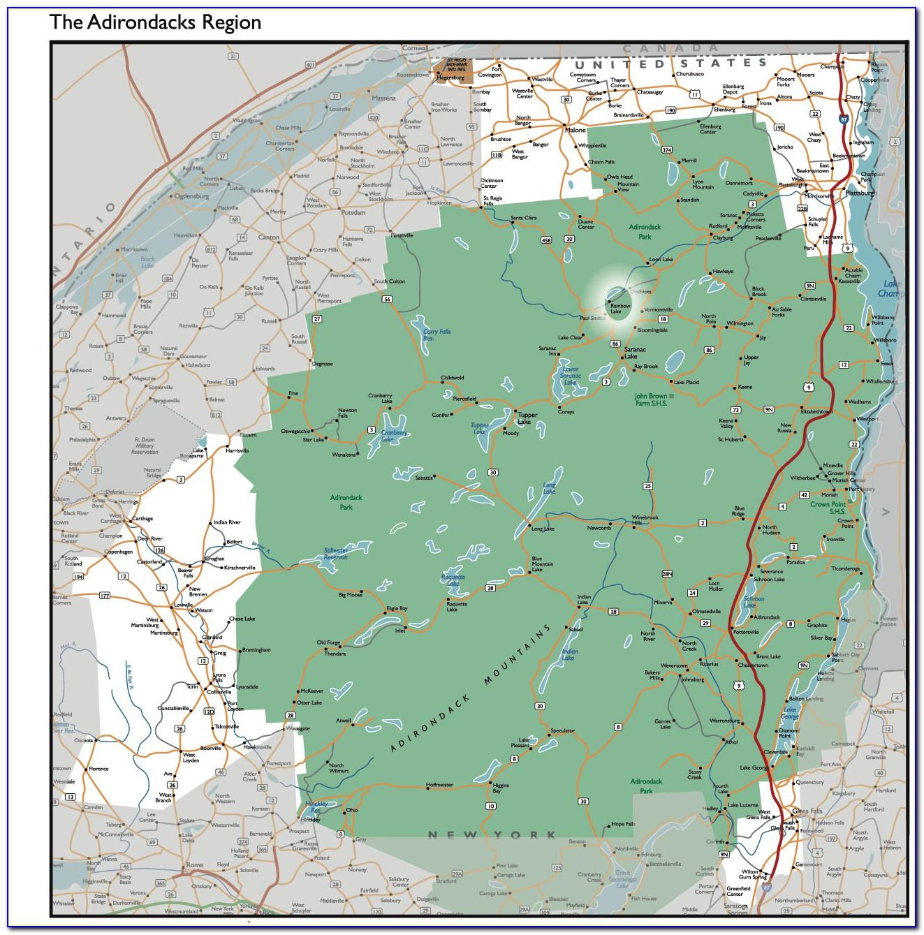 Maps Of The Adirondacks