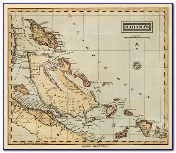 Marine Map Of Bahamas