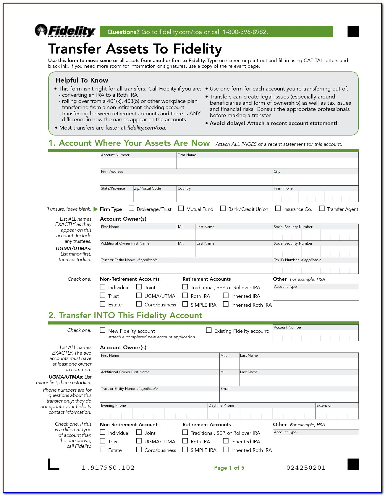 Medallion Signature Guarantee Form