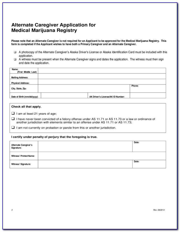 Medical Marihuana Application Forms Health Canada