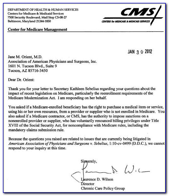 Medicare Disenrollment Form
