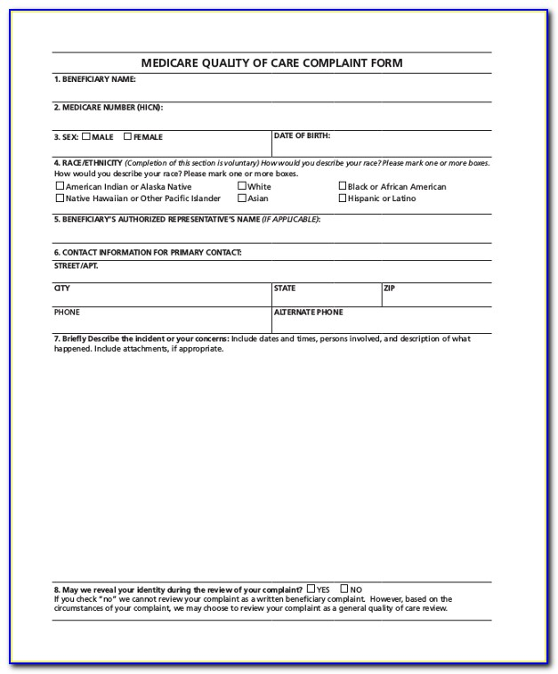 Medicare Part D Complaint Form