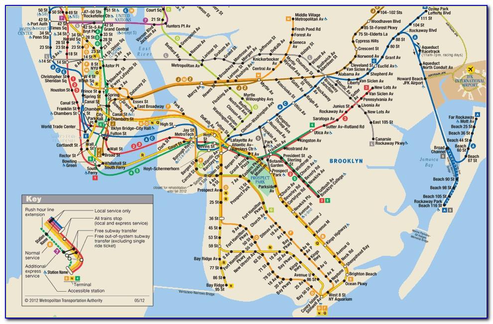 Metro Train Map New York