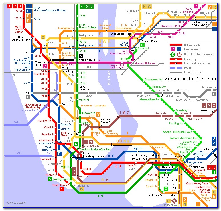 Metro Train Map Nyc