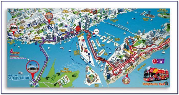 Miami Hop On Hop Off Tour Map